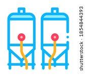 brewing barrels icon vector.... | Shutterstock .eps vector #1854844393