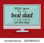 fathers day design over red... | Shutterstock .eps vector #185484923