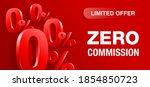 zero percent commission wide... | Shutterstock .eps vector #1854850723