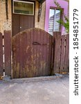 Small Old Wooden Gates Near...