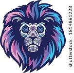colorful illustration of lion...   Shutterstock .eps vector #1854861223