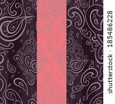 seamless paisley background.... | Shutterstock .eps vector #185486228