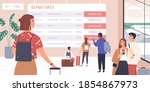 passengers disappointed with... | Shutterstock .eps vector #1854867973