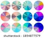 holographic circular metallic...