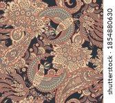 paisley seamless vector pattern.... | Shutterstock .eps vector #1854880630