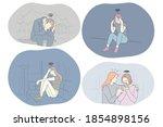 sadness  stress  loneliness ...   Shutterstock .eps vector #1854898156