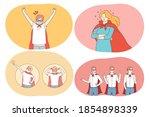 superhero power  strength ...   Shutterstock .eps vector #1854898339