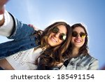 two girls with sunglasses...