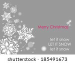 merry christmas greeting card ... | Shutterstock .eps vector #185491673