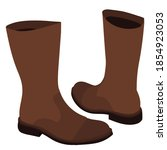 vector isolated brown boots on... | Shutterstock .eps vector #1854923053
