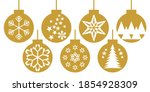 set of festive christmas... | Shutterstock .eps vector #1854928309