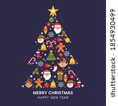 greeting christmas and greeting ... | Shutterstock .eps vector #1854930499
