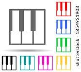piano keys multi color style...