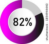 82  circle percentage diagrams  ...