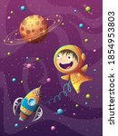 child experiences adventure in... | Shutterstock .eps vector #1854953803