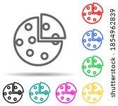 pizza multi color style icon....