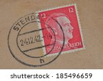 Old German Stamp With Hitler's...