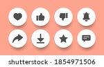 round buttons.button templates...   Shutterstock .eps vector #1854971506