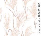 dry pampas grass seamless... | Shutterstock .eps vector #1854981400