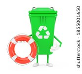Recycle Sign Green Garbage...