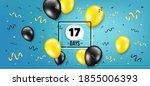seventeen days left icon....   Shutterstock .eps vector #1855006393