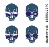 gangster skull vector logos set ... | Shutterstock .eps vector #1855011340