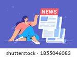 breaking news notification of...   Shutterstock .eps vector #1855046083
