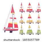 sailing yacht set  sport ...   Shutterstock .eps vector #1855057789