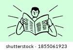 brush handmade illustration man ... | Shutterstock .eps vector #1855061923
