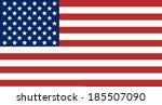 united states flag   Shutterstock . vector #185507090