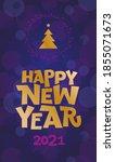 happy new year hand drawn... | Shutterstock .eps vector #1855071673