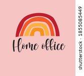 home office text print  rainbow ...   Shutterstock .eps vector #1855085449