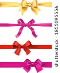 set of various gift bows with...   Shutterstock .eps vector #1855095556