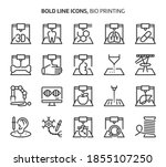 bio printing  bold line icons....   Shutterstock .eps vector #1855107250