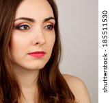 portrait of beautiful nude... | Shutterstock . vector #185511530