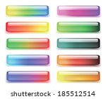set of colored buttons.  raster ... | Shutterstock . vector #185512514