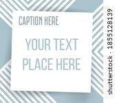 paper square sticker on... | Shutterstock .eps vector #1855128139