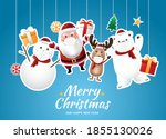 santa claus and the gang...   Shutterstock .eps vector #1855130026