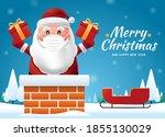 santa claus wearing a...   Shutterstock .eps vector #1855130029