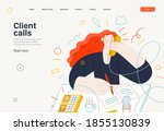 business topics   client calls  ... | Shutterstock .eps vector #1855130839