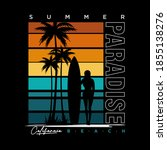 summer paradise stylish t shirt ...   Shutterstock .eps vector #1855138276