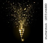 explosion golden party popper... | Shutterstock .eps vector #1855146880