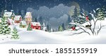 winter christmas landscape with ... | Shutterstock .eps vector #1855155919