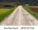 Rough Gravel Road In The...