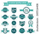 set of premium quality best... | Shutterstock . vector #185516408