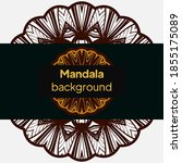 mandala design.background for... | Shutterstock .eps vector #1855175089