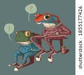 Illustration Of Two Sitting...