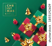 christmas and new year greeting ... | Shutterstock .eps vector #1855192609