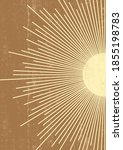 abstract sun print boho... | Shutterstock .eps vector #1855198783