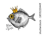 Crazy Fish In The Gold Crown....